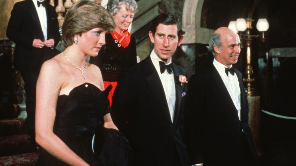 Princess Diana in engagement dress