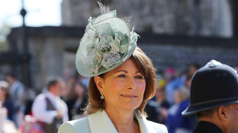 Carole Middleton with stylish fascinator