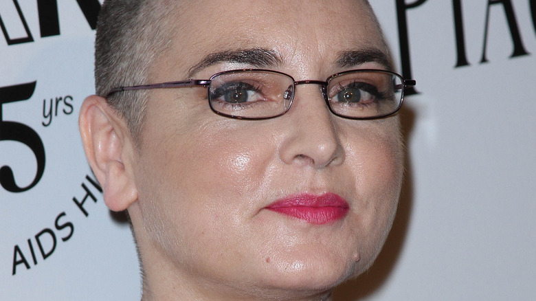 Sinead O'Connor smiling
