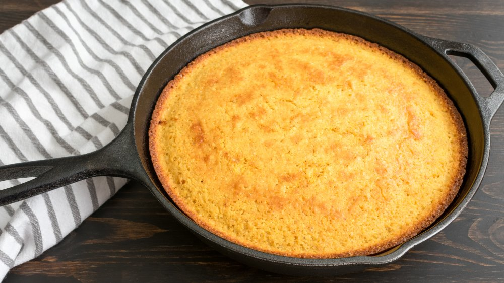 cornbread in a skillet