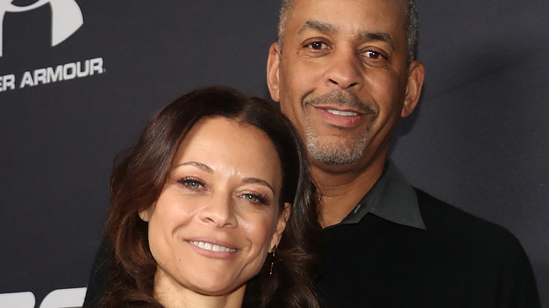 Sonya Curry and Dell Curry at event