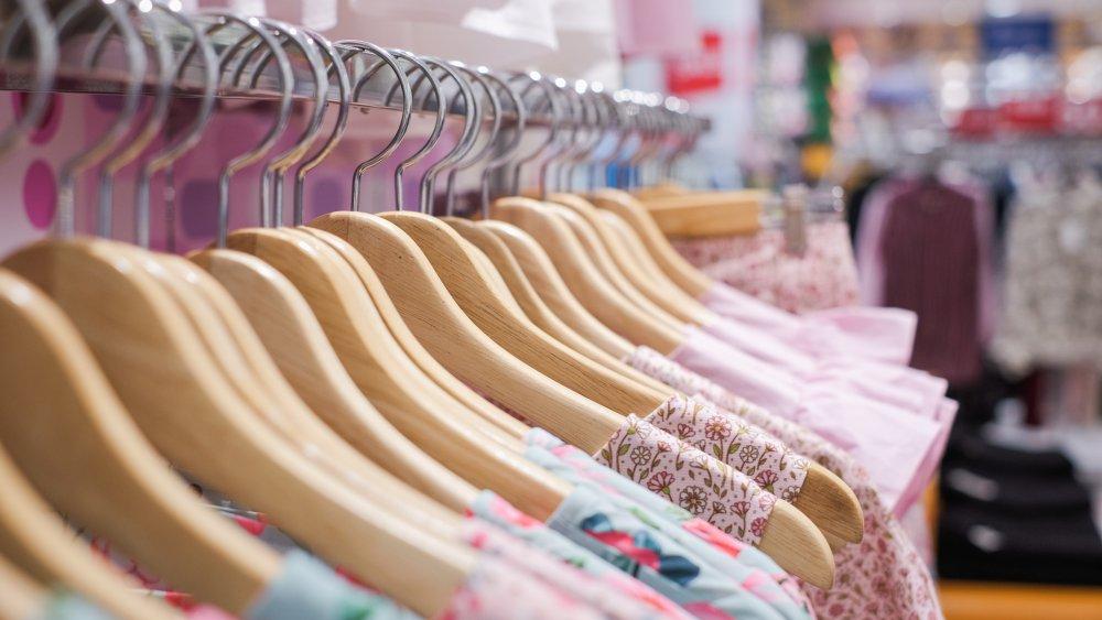 Clothing racks at a store