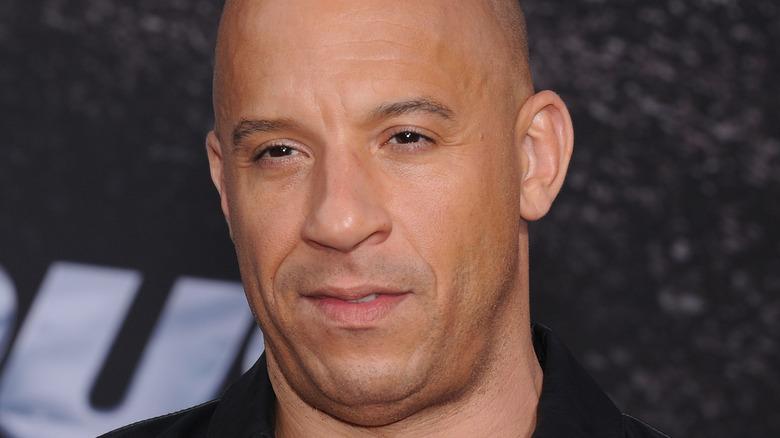 Vin Diesel close up looking serious