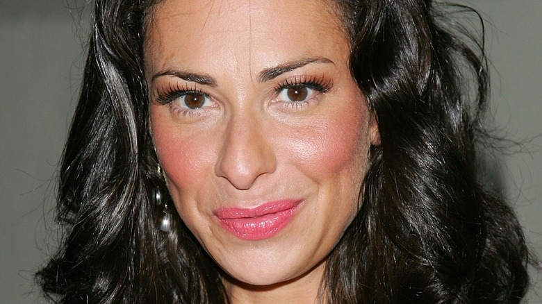 Stacy London with pink lipstick
