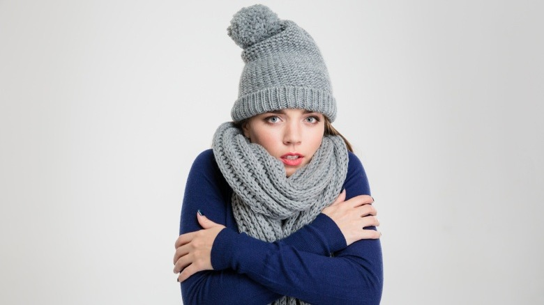 woman cold