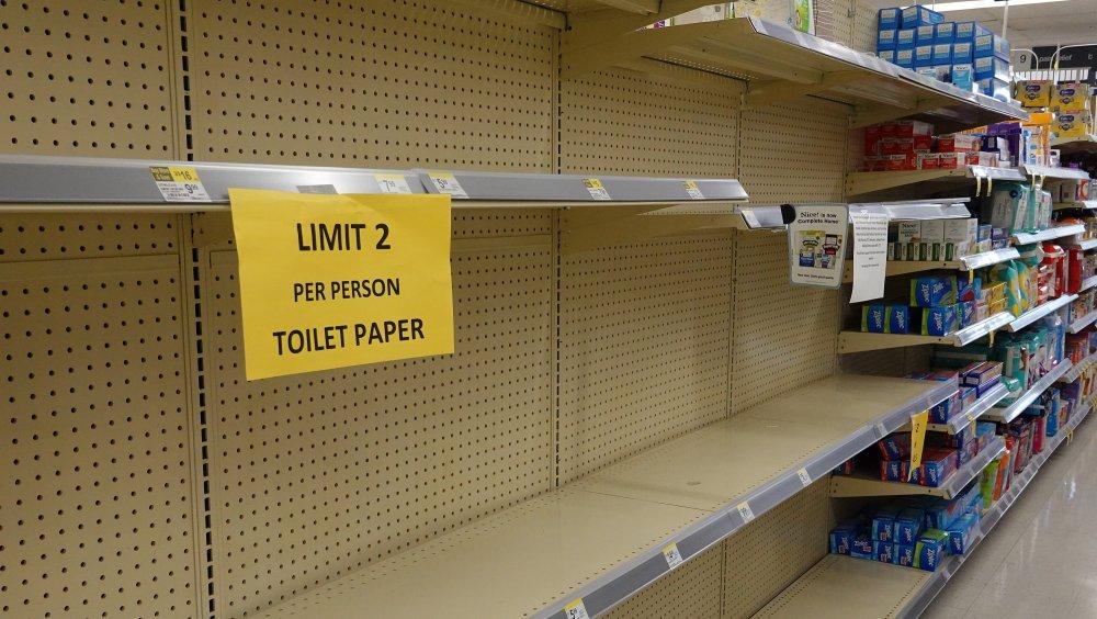 Toilet paper empty shelves