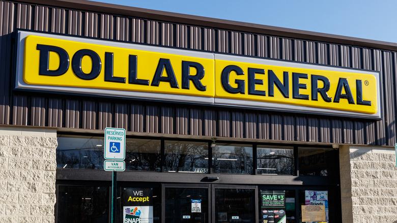 Yellow Dollar General sign