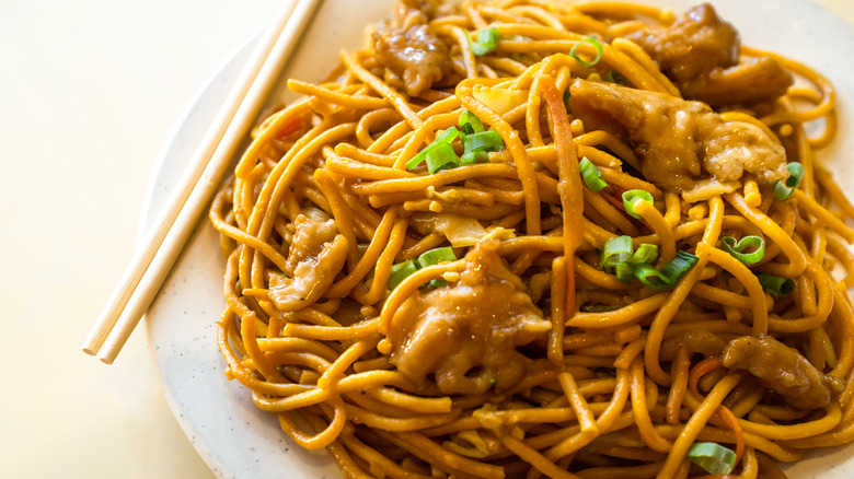 American style lo mein