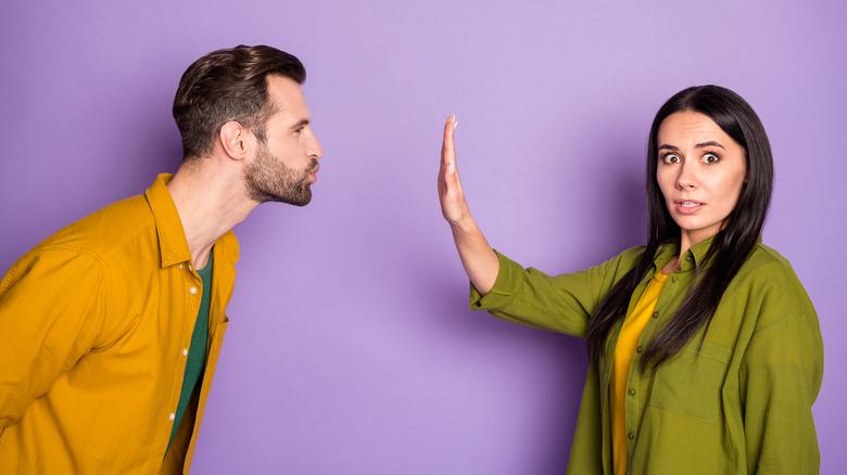 Girl afraid to get close to her boyfriend