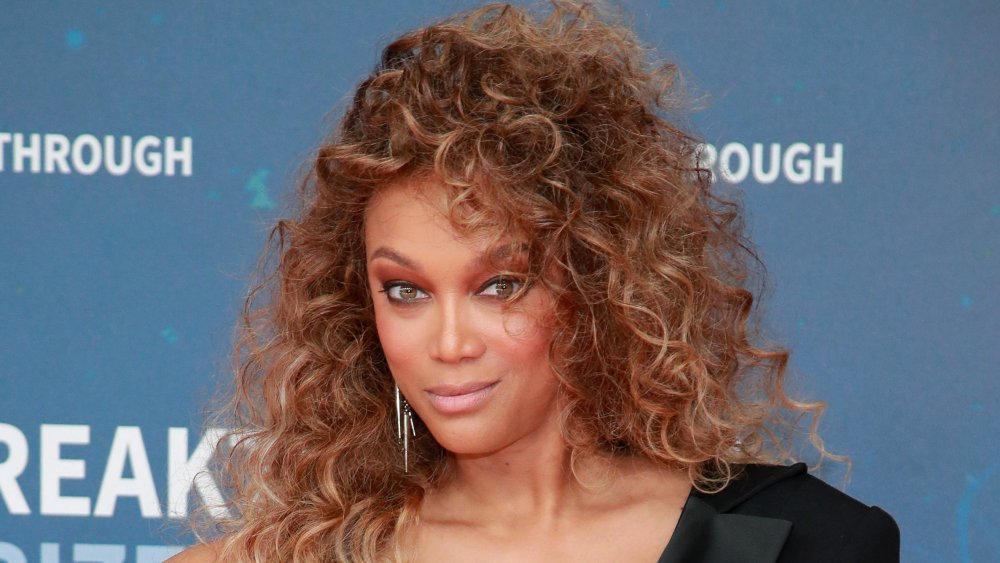 Tyra Banks on the red carpet in 2019