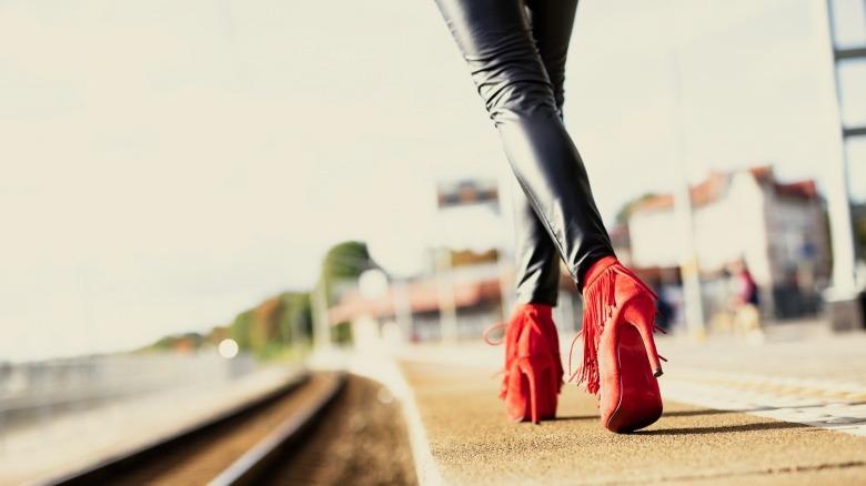 Heels girl in high Sissy Heels