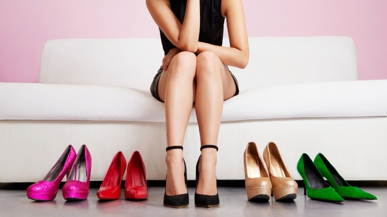 woman with high heels