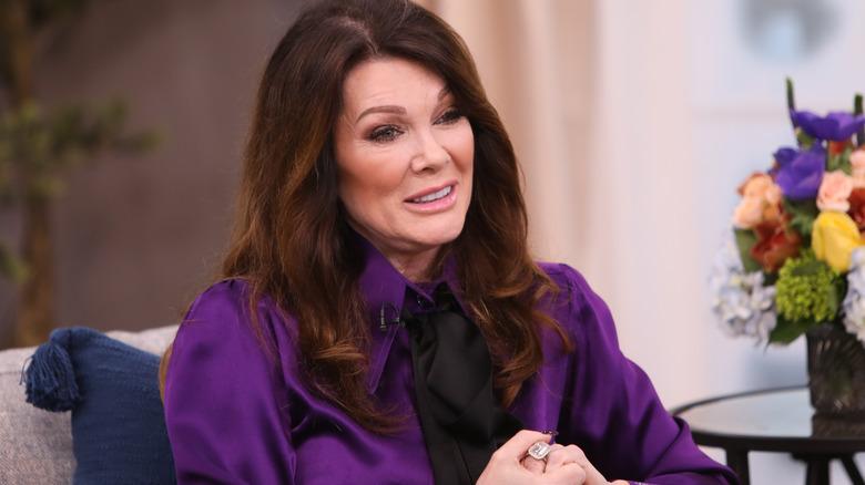 Lisa Vanderpump seated and speaking