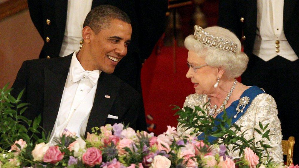 Queen Elizabeth and Barack Obama