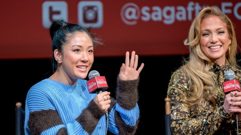 Constance Wu and Jennifer Lopez
