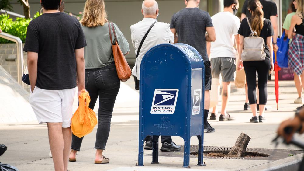 USPS mailbox on street