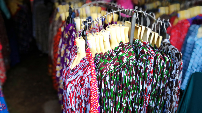 blouses on a rack
