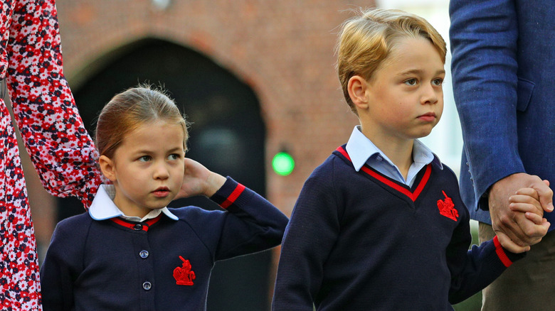 royal children George and Charlotte