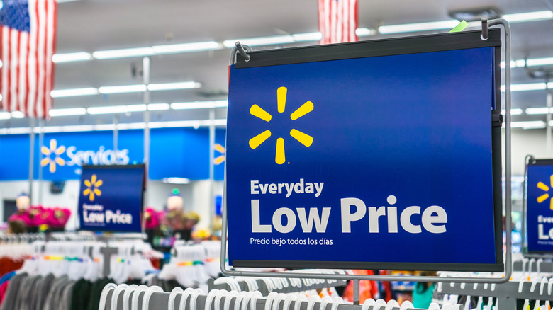 Walmart low price sign