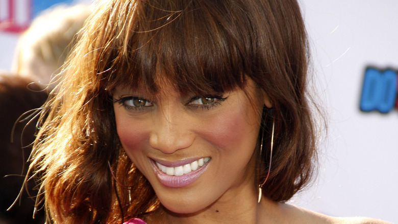 Tyra Banks on a red carpet