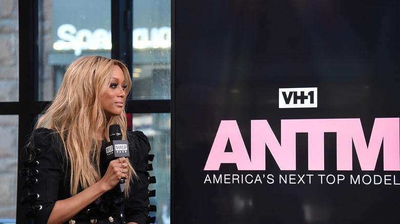 Tyra Banks promoting America's Next Top Model