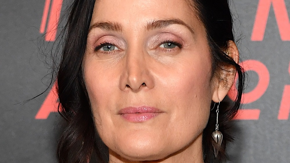 Carrie-Anne Moss close up