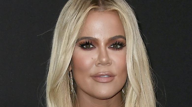 Khloe Kardashian posing