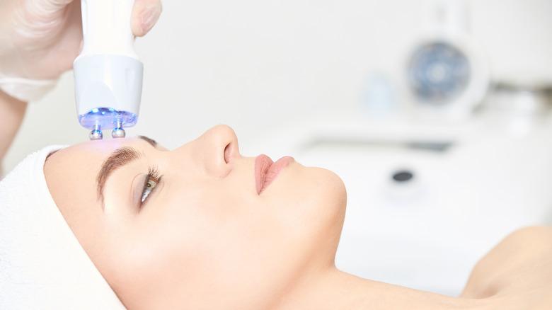 Woman having skincare treatment