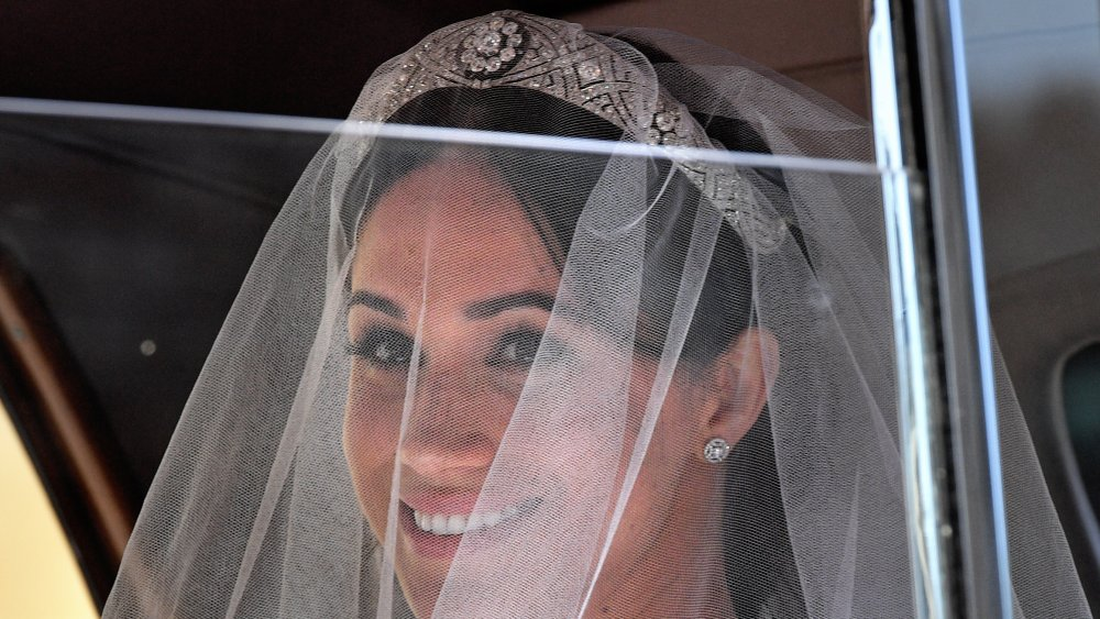 Meghan Markle in her wedding tiara