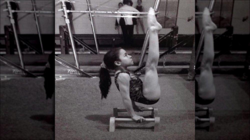 Aly Raisman as a young girl training