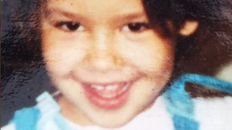 Amber Rose as a child
