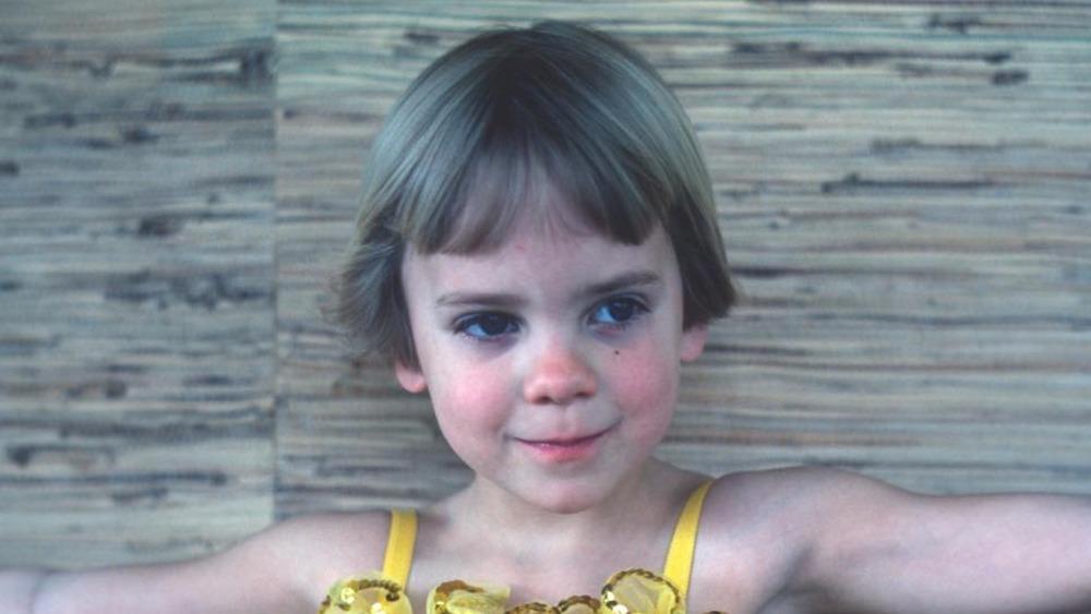 Anna Faris as a young girl, close-up