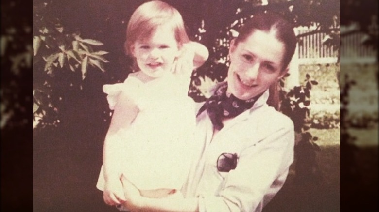 Anne Hathaway and mother