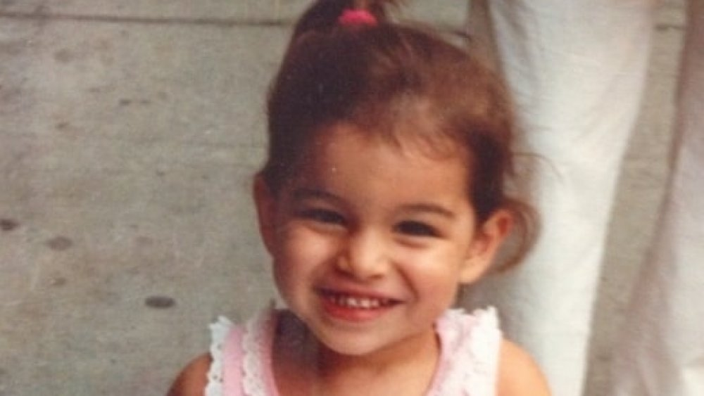 Bachelor star Ashley Iaconetti as a little girl with a ponytail
