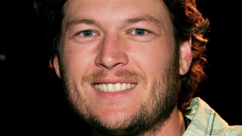 Blake Shelton grinning