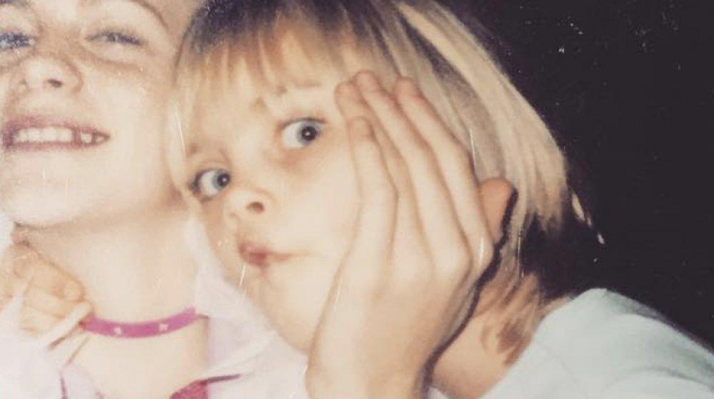 Cara Delevingne as a kid