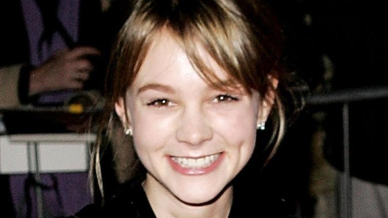 Carey Mulligan smiling for press