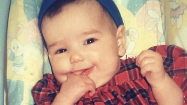 Dua Lipa as a baby