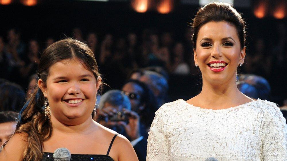 Madison De La Garza, who played Eva Longoria's TV daughter, with Eva Longoria