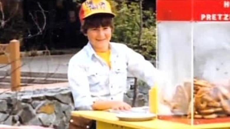 A young Guy Fieri selling pretzels