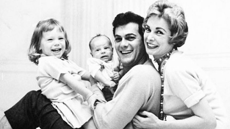 Baby Jamie Lee Curtis with family