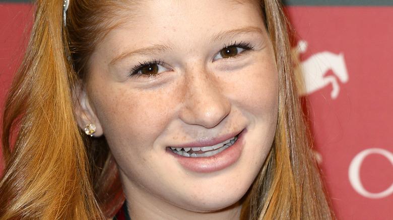 Young Jennifer Gates smiling