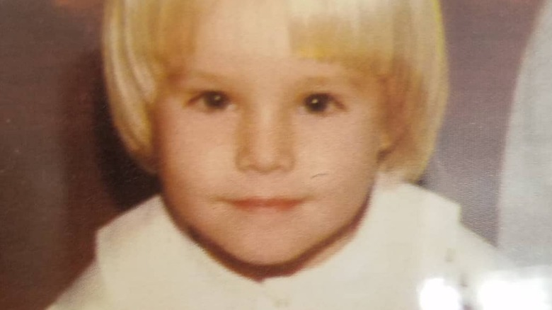 Kristen Bell as a young child