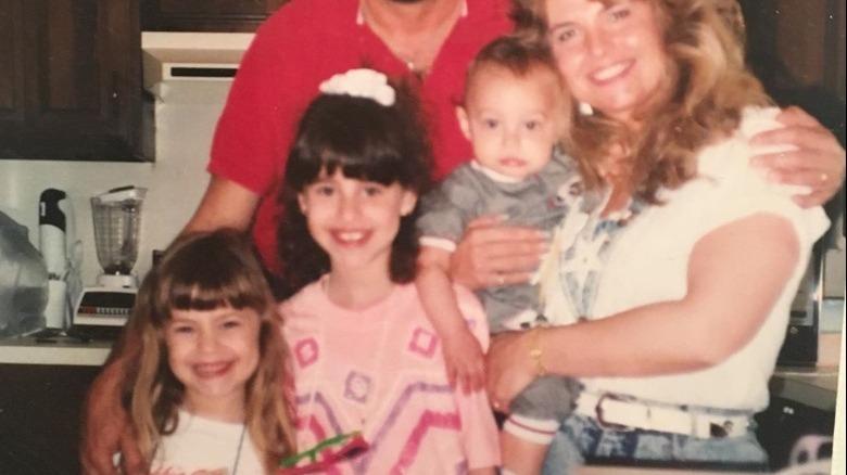 Lauren Hashian as a girl with her family