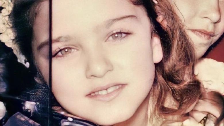 Madonna as a girl close-up