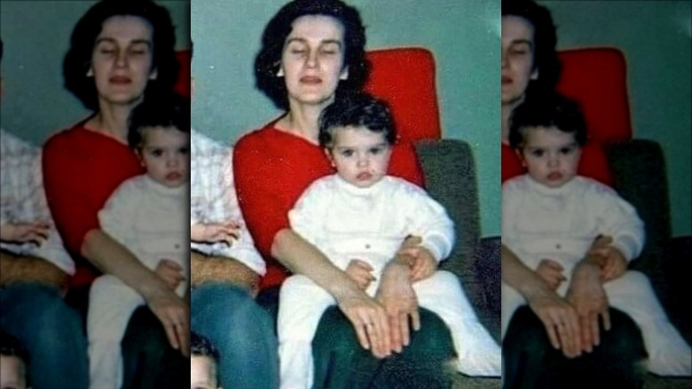 Madonna as a child with her mother