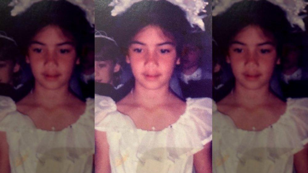 Nicole Scherzinger as a young girl