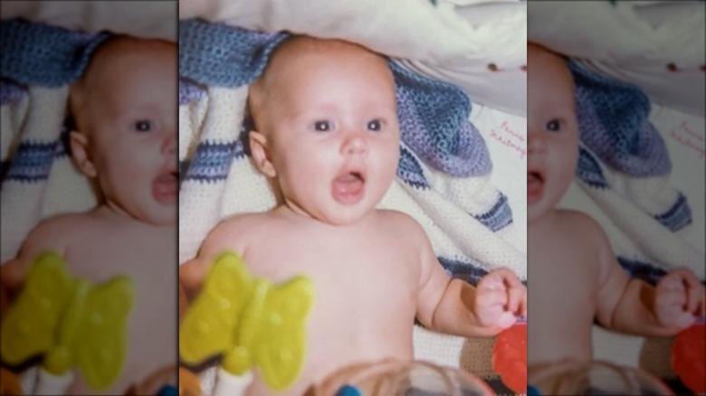 Paris Hilton as a baby