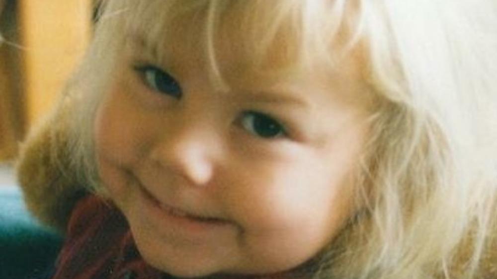 Phoebe Bridgers as a toddler, close-up