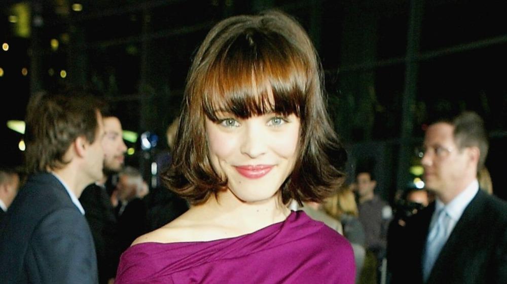 Rachel McAdams in 2004 wearing magenta